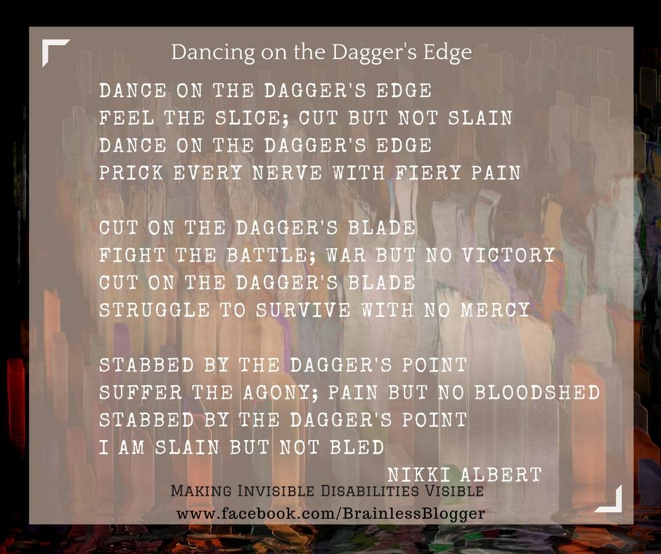 Poem-dancing on daggers edge
