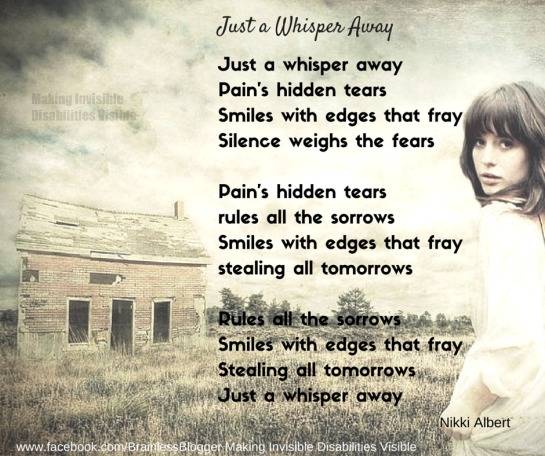 Just a whisper away poem