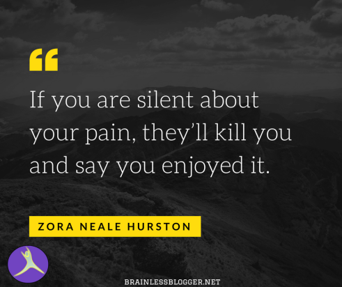 If you are silent about your pain, they_ll kill you and say you enjoyed it.