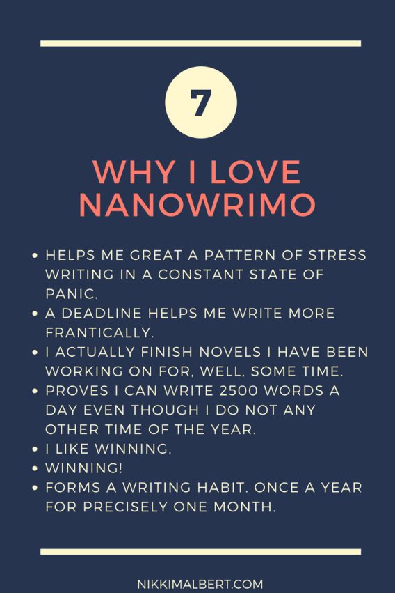 Why I love NaNoWriMo