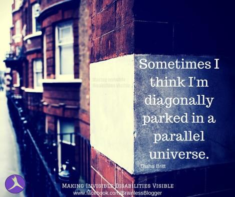 Sometimes I think I'm diagonally parked