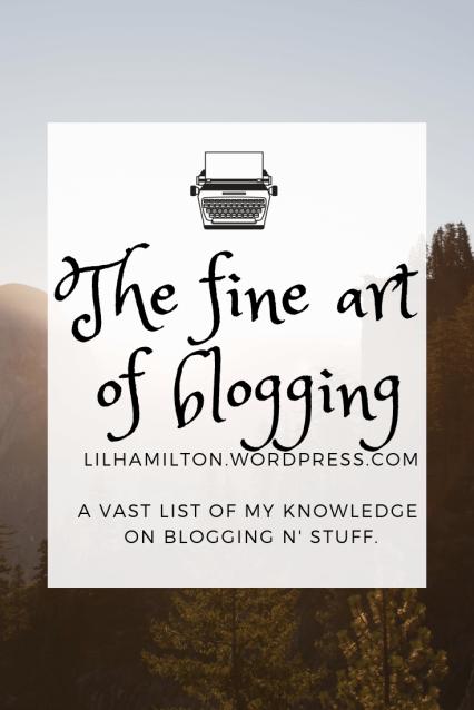 The fine art blogging