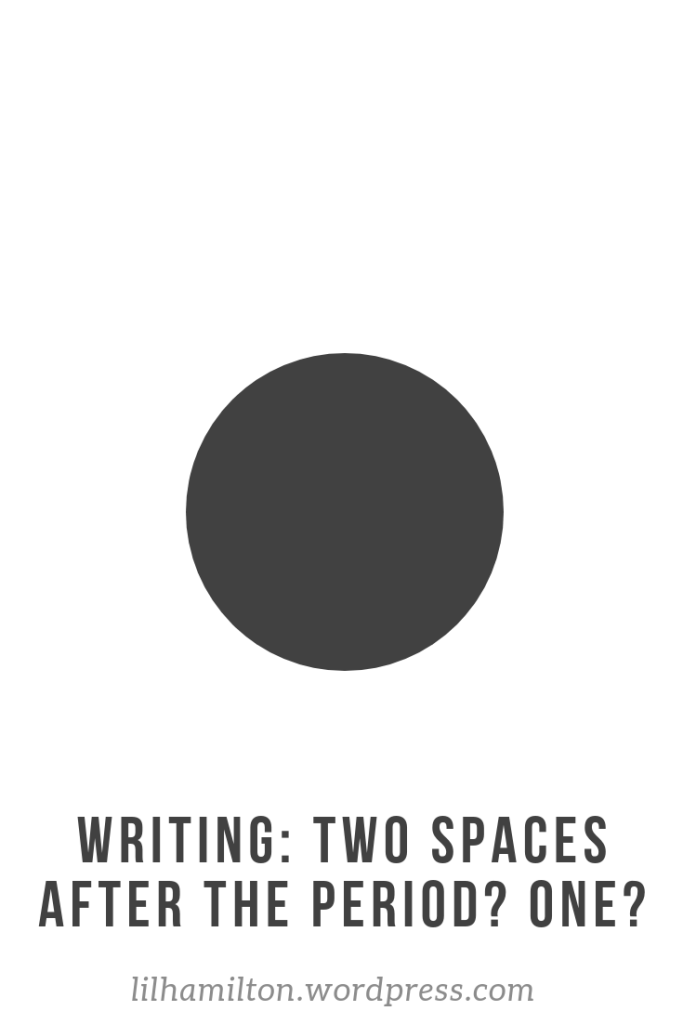 Writing the space after a period
